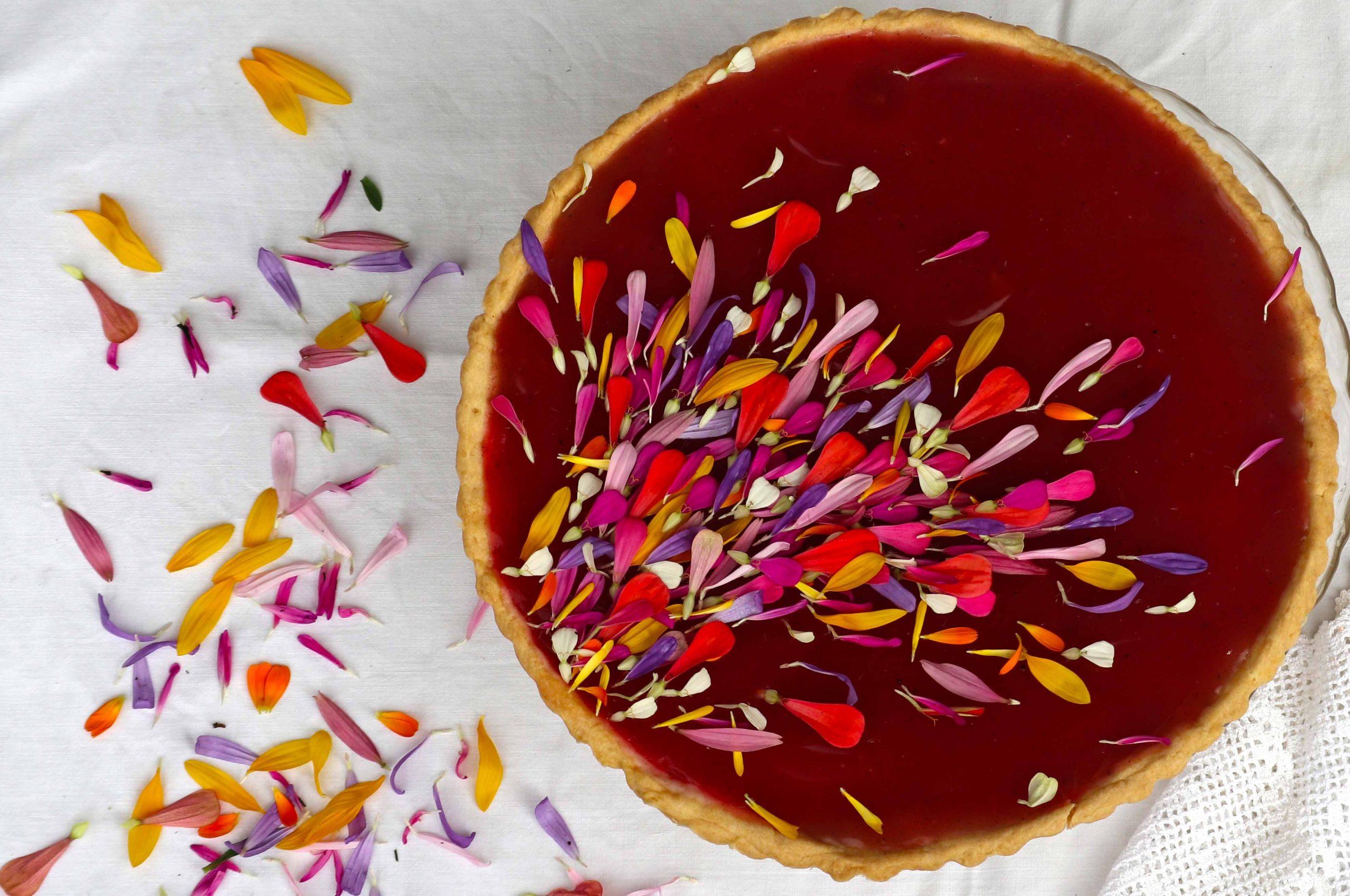 Bezgove jagode v pudingovi torti