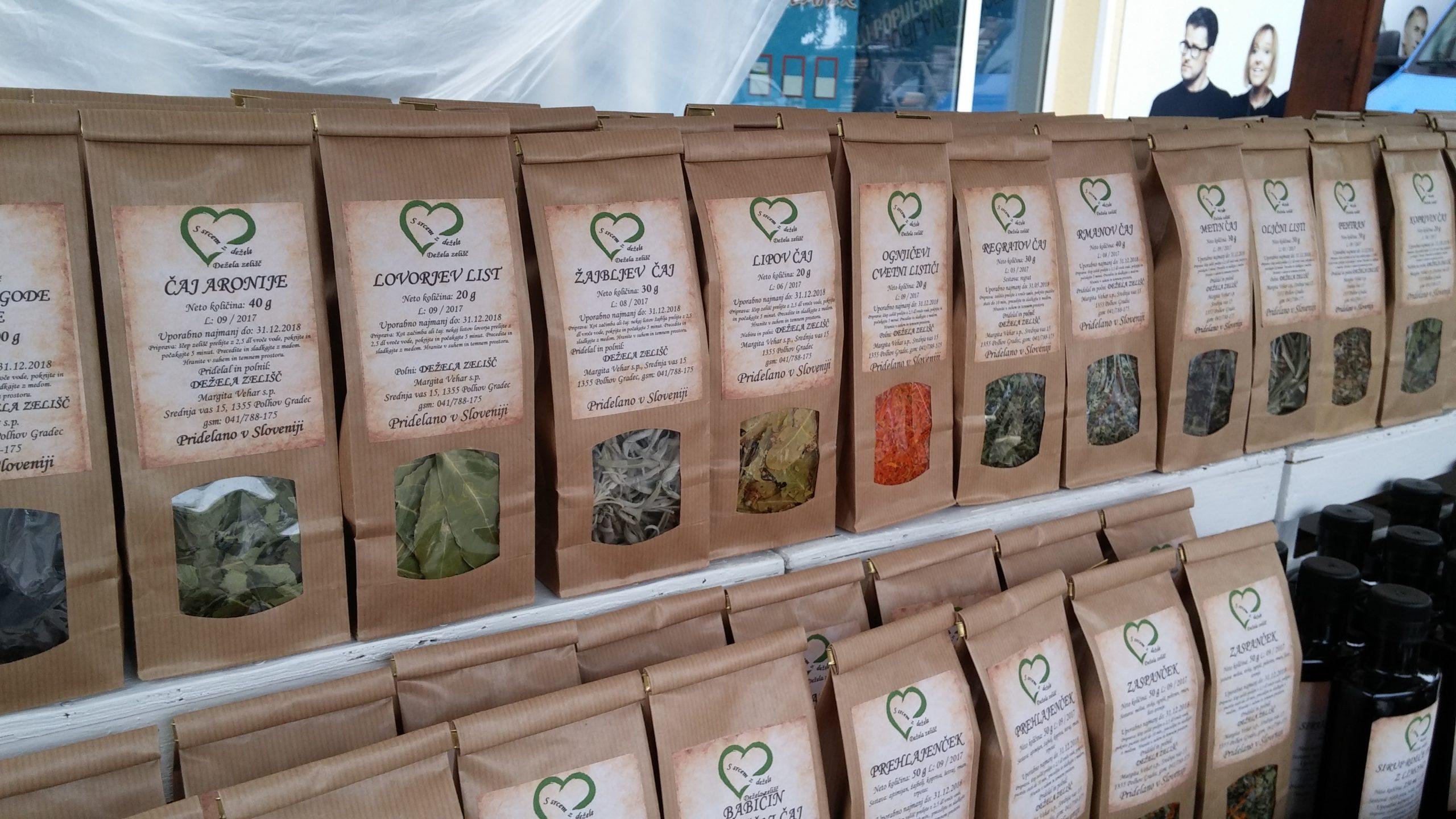 Širok nabor zdravilnih čajev iz Dežele zelišč